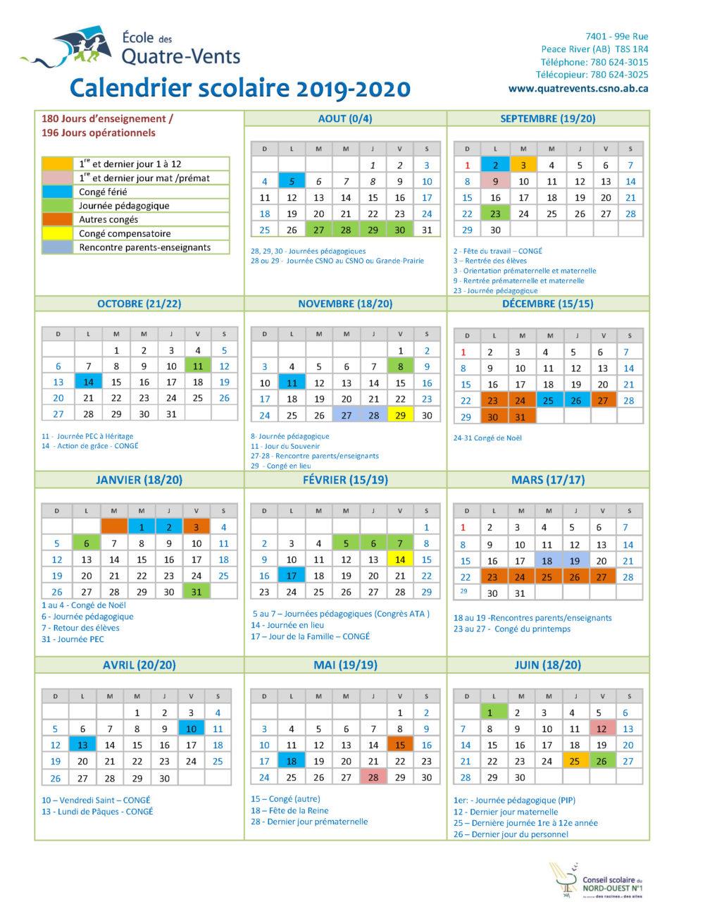 Calendrier 2019 Fete.Calendriers Scolaires Annuels
